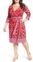 Adrianna Papell Plus Size Women's Faux Wrap Jersey Dress