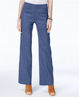INC International Concepts Linen-Blend Wide-Leg Pants, Created for Macy's