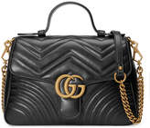 Gucci GG Marmont Small Chevron Quilted Top-Handle Bag with Chain Strap