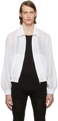 Random Identities White Cropped Mesh Jacket