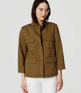 LOFT Tall Linen Cotton Cargo Jacket