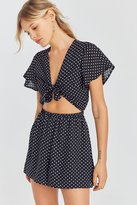 Kimchi & Blue Kimchi Blue Tie-Front Cut-Out Romper