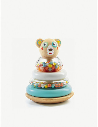 Djeco BabyBlanc bear wooden stacking toy