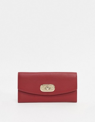 Paul Costelloe Leather Ladies' wallet With Gold Clasp In Red