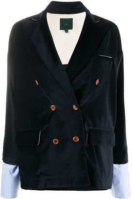 Jejia Double-Breasted Fitted Blazer