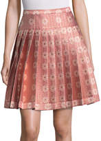 RED Valentino Women's Floral Jacquard Pleated A Line Skirt