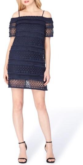 Tahari Women's Cold Shoulder Shift Dress