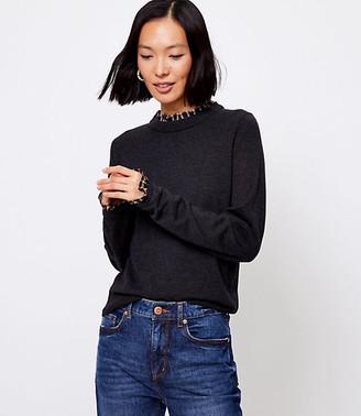 LOFT Lace Collar Sweater