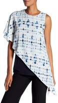 Karen Kane Blurred Tie-Dye Overlay Blouse