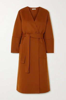 Ulla Johnson Gwyneth Belted Wool-felt Coat - Orange