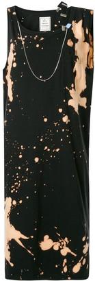 Maison Mihara Yasuhiro Suspender-Strap Bleached Dress