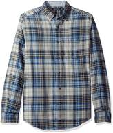 Nautica Men's Long Sleeve Brushed Twill Plaid Shirt