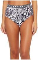 Tommy Bahama Paisley Paradise High-Waist Bikini Bottom Women's Swimwear