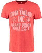 Tom Tailor Fitted Print Tshirt Sun Bleached Red