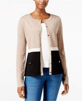 Karen Scott Colorblocked Cardigan, Created for Macy's