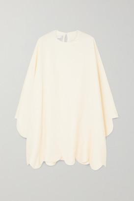 Valentino Cape-effect Scalloped Cady Mini Dress - Ivory