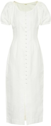 Cult Gaia Charlotte cotton and linen dress