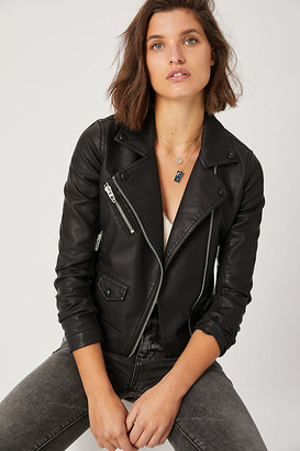 Blank NYC Misty Faux Leather Moto Jacket By BLANKNYC in Black Size XS