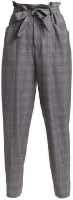 Etoile Isabel Marant Vittoria Plaid High Waist Trousers