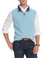Daniel Cremieux Solid Cable Quarter-Zip Sweater Vest