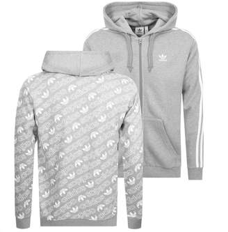 adidas Monogram Full Zip Hoodie Grey