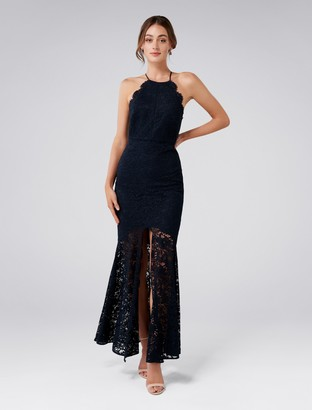 Ever New Gracie Lace Halter Gown