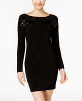 Jump Juniors' Sequin-Trim Bodycon Dress