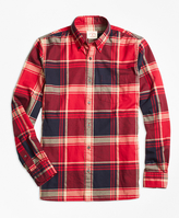 Brooks Brothers Red Tartan Flannel Sport Shirt