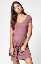 La Hearts Tie Front T-Shirt Dress