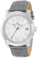 """Lucien Piccard Women's LP-10026-02-GY """"Bordeaux"""" Stainless Steel Watch with Leather Band"""