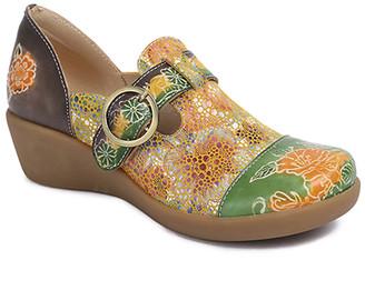 Sweet Acacia Women's Clogs Multi - Blue & Green Floral Leather Shoe - Women