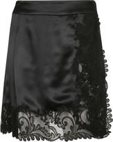 Versace Laced Mini Skirt