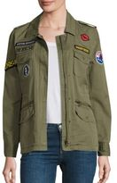 Velvet Andreea Patch Cotton Army Jacket