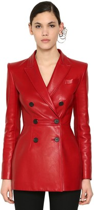 Alexander McQueen Double Breast Nappa Leather Jacket