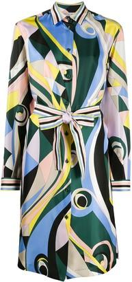 Emilio Pucci Occhi-print silk dress