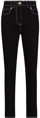 Balmain Contrast-Stitching Skinny Jeans