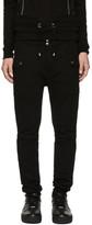 Balmain Black Mesh Panel Lounge Pants