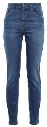 Just Cavalli Embellished High-rise Slim-leg Jeans