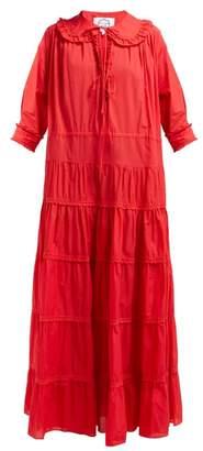 Evi Grintela Maria Cotton Maxi Dress - Womens - Red
