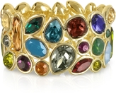 Forzieri Multicolor Crystal and Metal Bangle