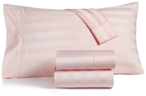 """Charter Club Damask 1.5"""" Stripe Queen 4-Pc Sheet Set, 550 Thread Count 100% Supima Cotton, Created for Macy's Bedding"""