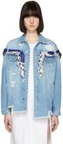 Sjyp Blue Denim Oversized Jacket
