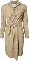 Moschino tie-waist day dress - women - Cotton/Metallic Fibre/Polyimide - 38