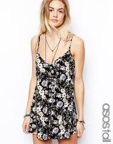 Asos TALL Floral Print Cami Playsuit