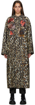 Raf Simons Off-White Animalier Patches Car Coat