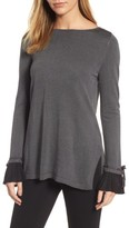 CeCe Women's Pleated Cuff Tunic Sweater