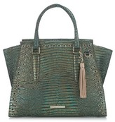 Brahmin Moa Priscilla Leather Satchel - Green