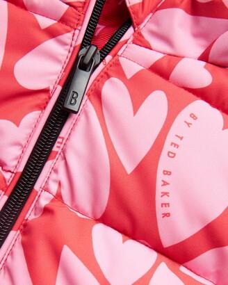 Ted Baker 642938 Heart Printed Padded Coat
