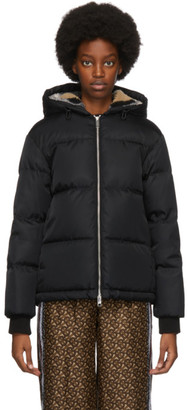 Burberry Black Down Seafield Oversized Jacket