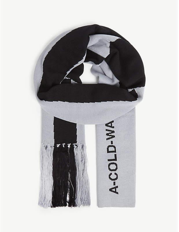 A-Cold-Wall* Logo print wool-blend scarf